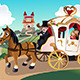 Prince and Princess in Horse Wagon - GraphicRiver Item for Sale