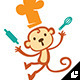 Cooking Monkey - GraphicRiver Item for Sale