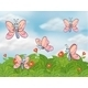 Garden with Butterflies - GraphicRiver Item for Sale