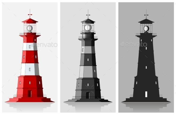 GraphicRiver Set of of Lighthouses 9652982