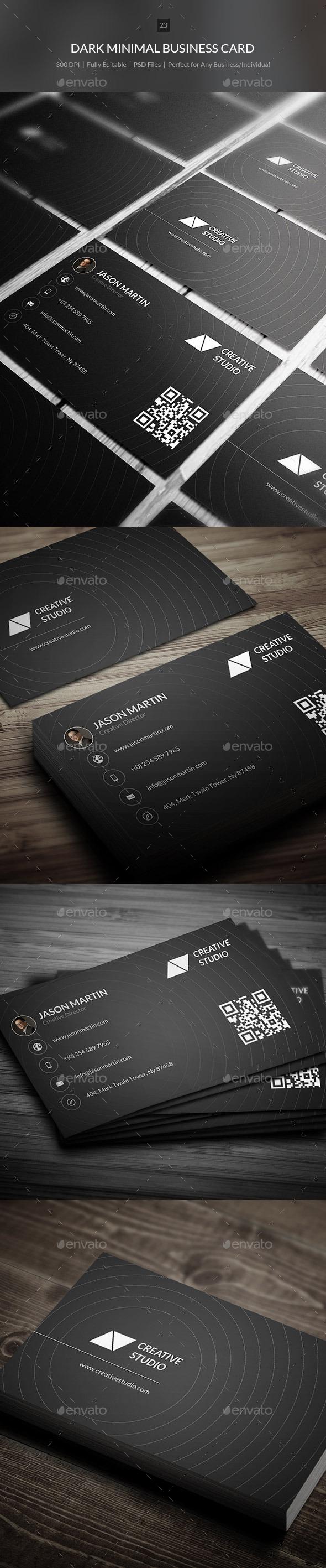 GraphicRiver Dark Minimal Business Card 23 9618110