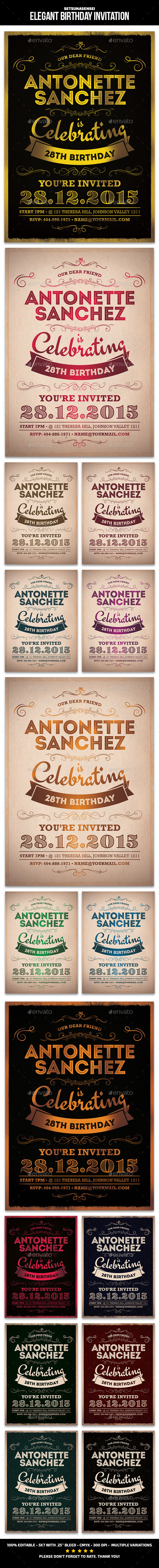 GraphicRiver Elegant Birthday Invitation 9653079
