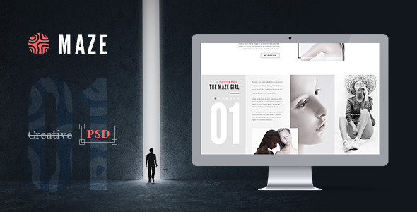 ThemeForest Maze Creative Agency PSD Template 9653162