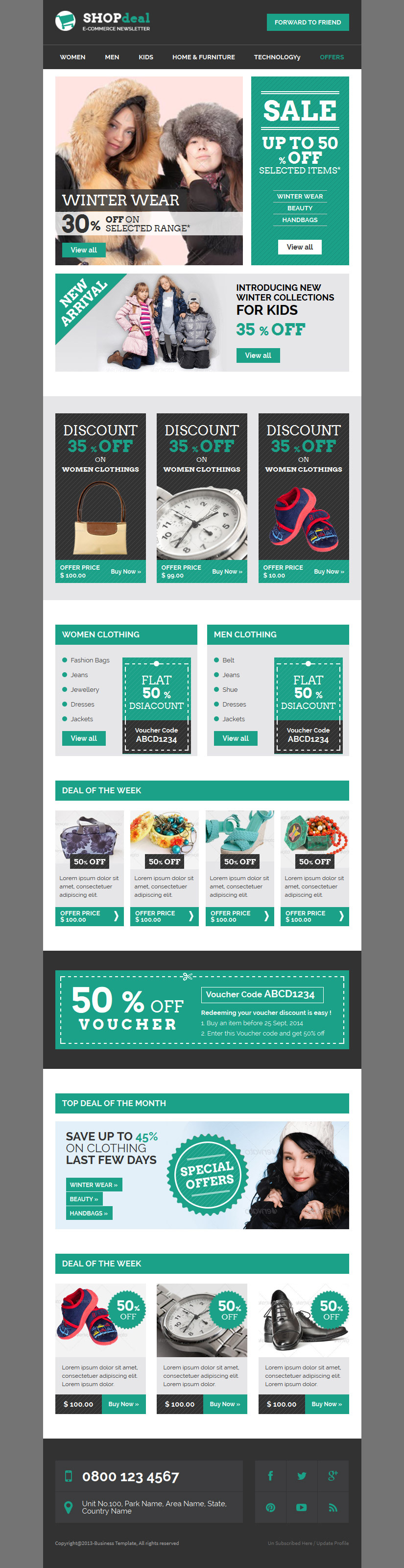 SHOPdeal Responsive Email Template With Builder by digith – Responsive Email Template