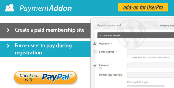 CodeCanyon Payment Addon for UserPro 9653341