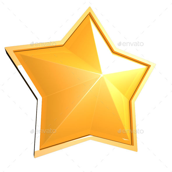 GraphicRiver Sparkling Golden Star 9653469