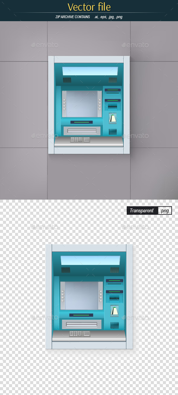 GraphicRiver ATM on the Wall 9654780