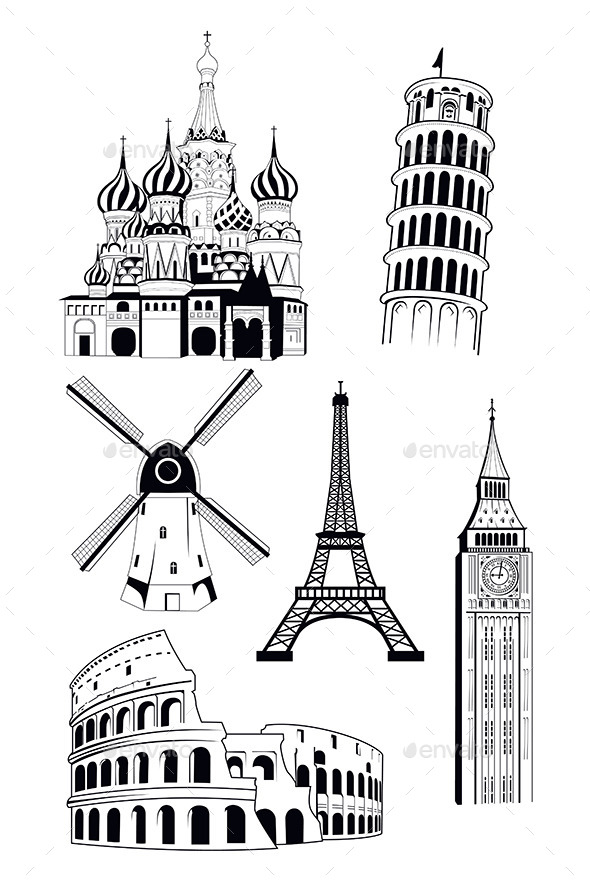GraphicRiver European Travel Destinations 9654781