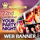 Music & Party - Clubbing Web Banners - GraphicRiver Item for Sale