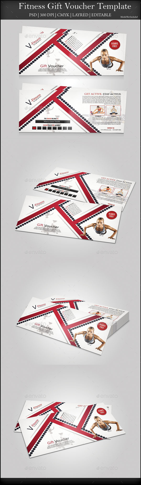 GraphicRiver Fitness Gift Voucher 9654954