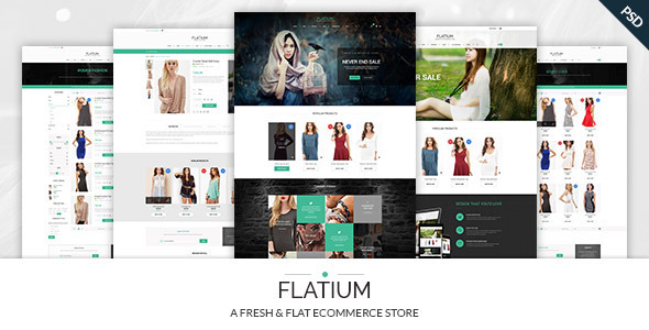 ThemeForest Flatium Flat & Fresh PSD Ecommerce Set 9462951