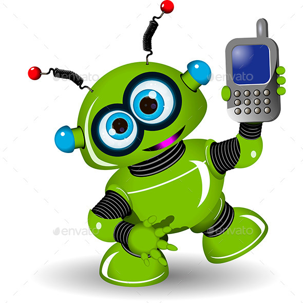 GraphicRiver Robot and Phone 9655305