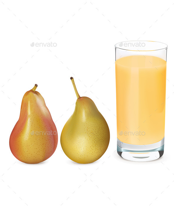 GraphicRiver Pears and Glass of Fresh Pear Juice 9655502