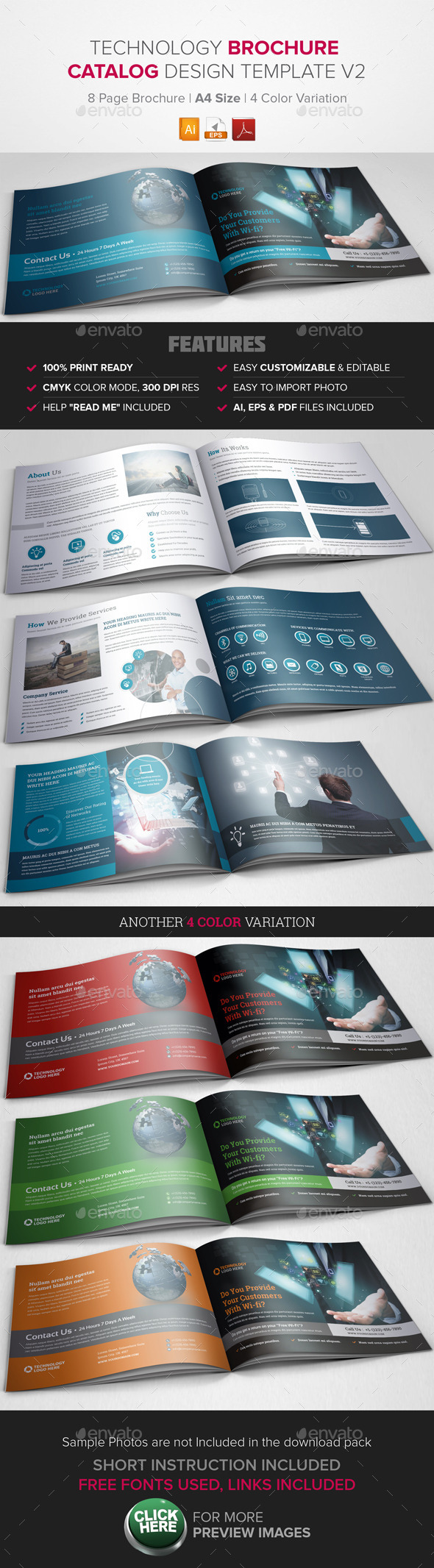 GraphicRiver Technology Brochure Catalog Template v2 9655510