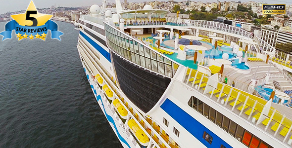 VideoHive Aerial View of Cruise ship 9655529