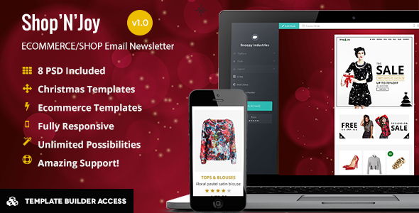 ThemeForest Shop&Joy Holiday Email & Template Builder Acces 9655538
