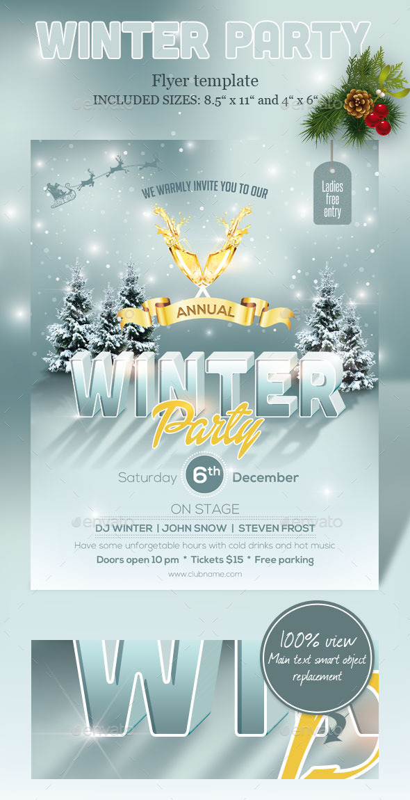 GraphicRiver Winter Party Flyer 9655560