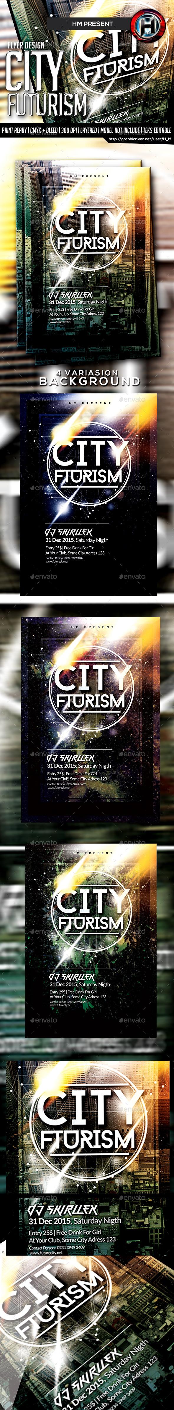 GraphicRiver Futurism City Flyer Design 9655564