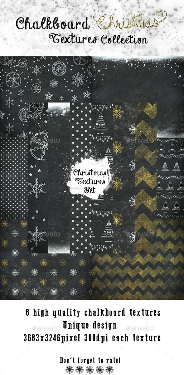 GraphicRiver Christmas Chalkboard Textures 9655614
