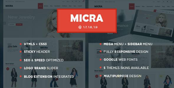 ThemeForest Micra Responsive Multipurpose Magento theme 9655619