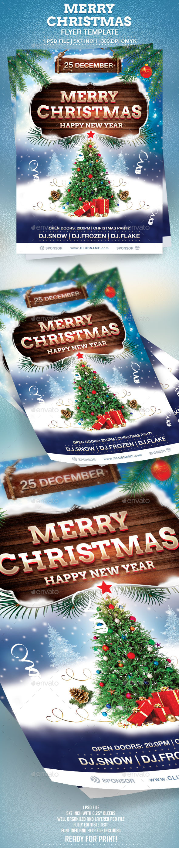 GraphicRiver Merry Christmas Flyer Template 9655703
