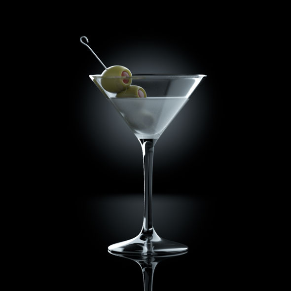 3DOcean Frozen Martini drink 9655708