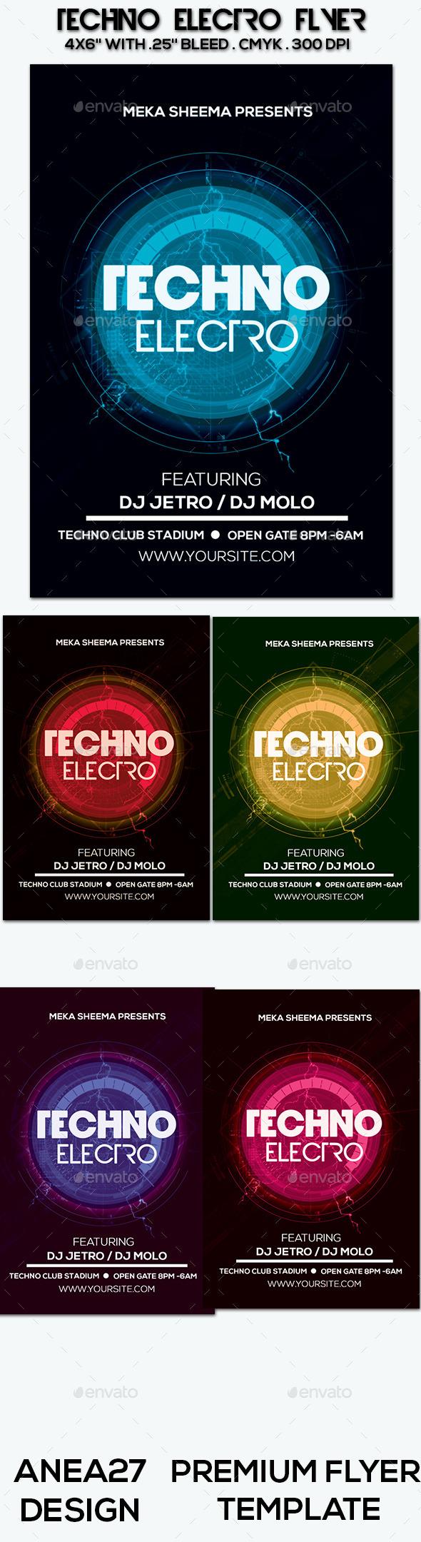 GraphicRiver Techno Electro Flyer 9655738