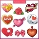 Set of Candy Heart Icons for Valentine's Day - GraphicRiver Item for Sale