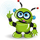 Cheerful Green Robot - GraphicRiver Item for Sale