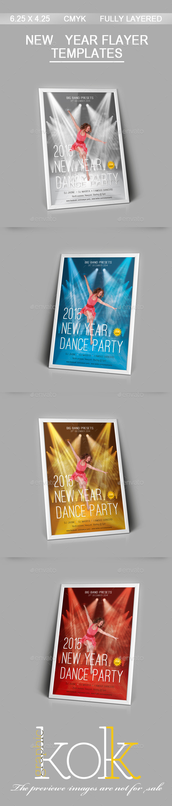 GraphicRiver 2015 New Year Party Flyer 9618040