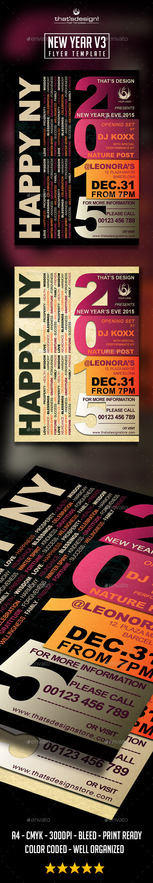 GraphicRiver New Year Flyer Template V3 9656089