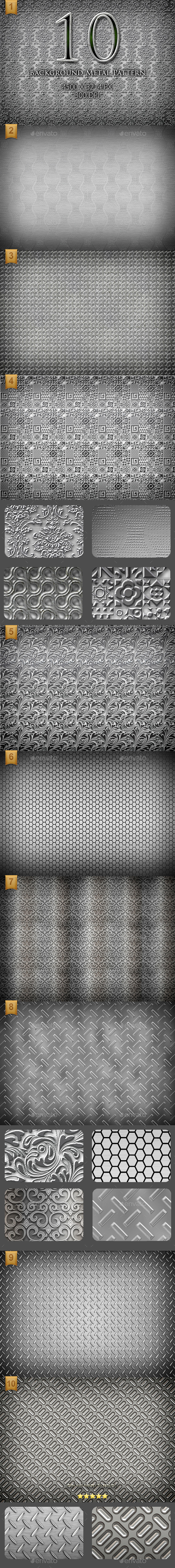 GraphicRiver 10 High Resolution Background Metal Pattern 9656301