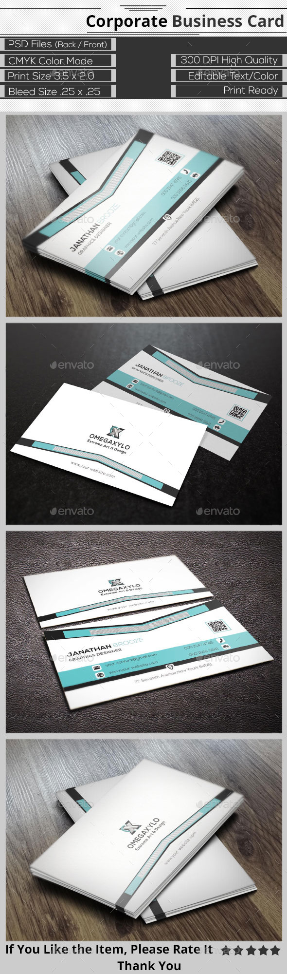 GraphicRiver Creative Corporate Business Card 9656304