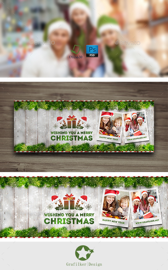 GraphicRiver Christmas Timeline Cover Templates 9629759