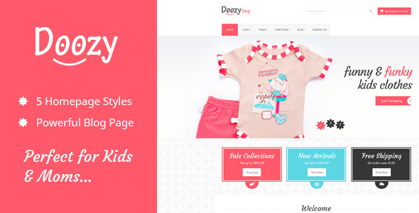 ThemeForest Doozy eCommerce & Blog PSD Template 9656354