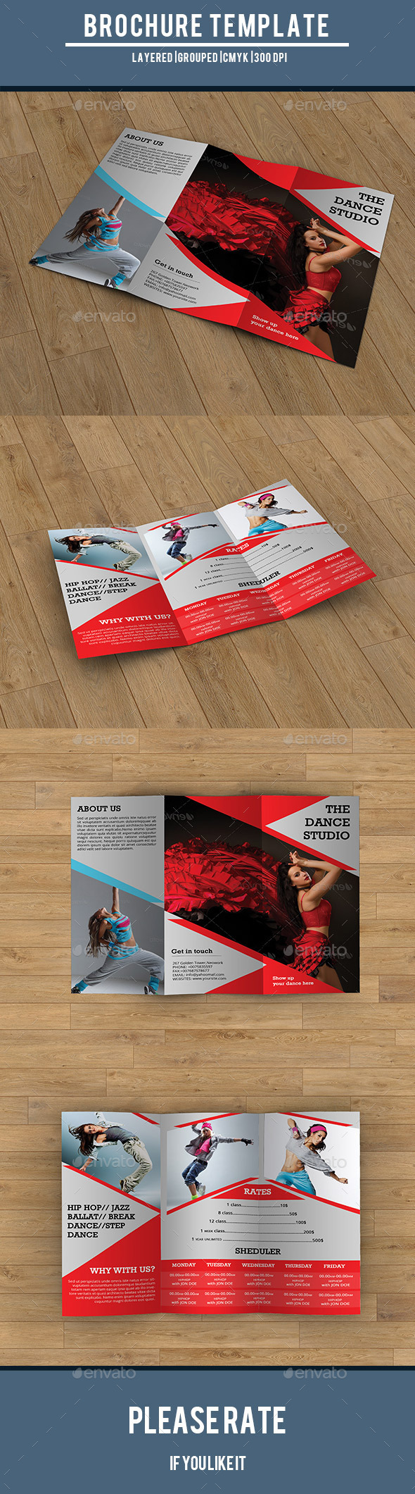 Trifold Brochure for Dance Studio-V194