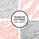 Vector Set of Four Doodle Seamless Patterns - GraphicRiver Item for Sale