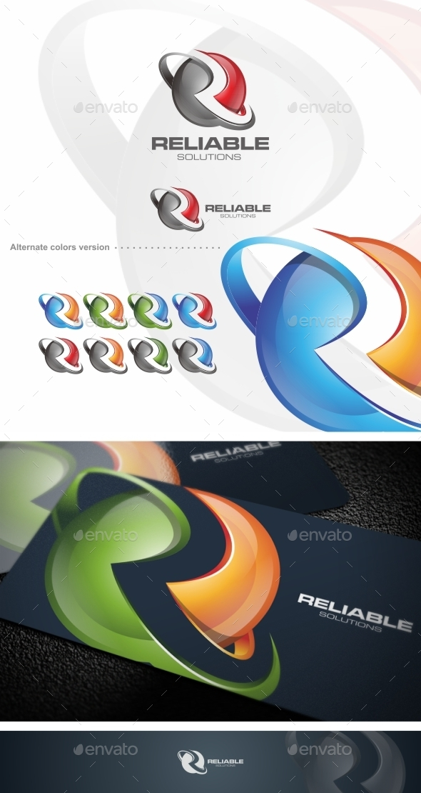 GraphicRiver Reliable R Letter Logo Template 9656865