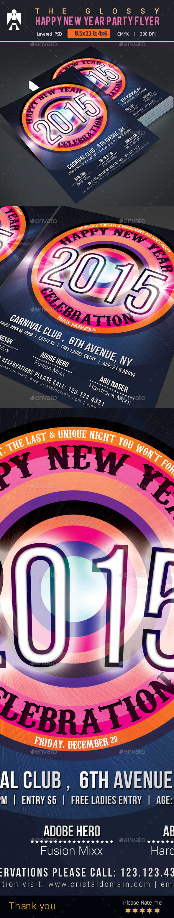 GraphicRiver Happy New Year Party Flyer 9657037