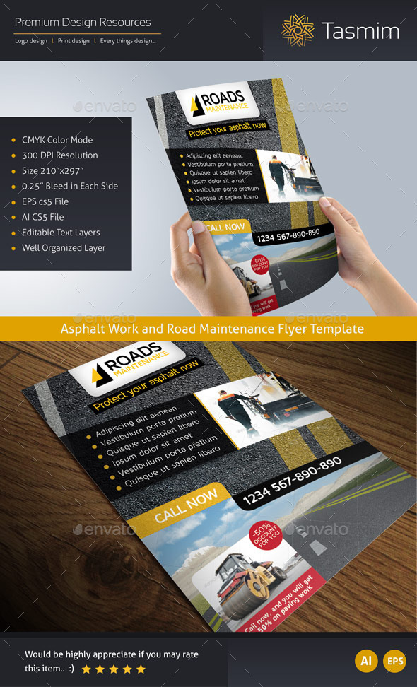 GraphicRiver Road Maintenance Flyer Template 9657247