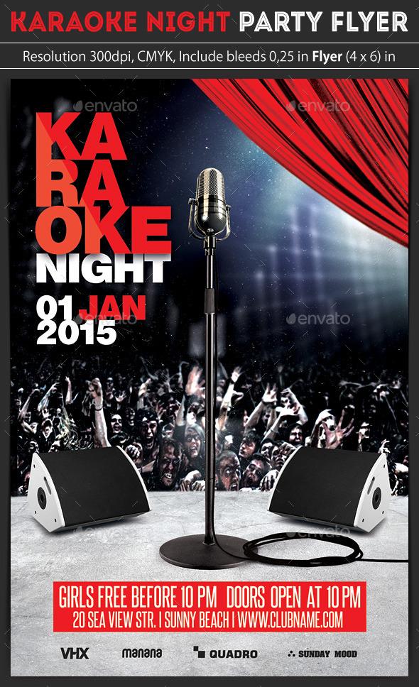 GraphicRiver Karaoke Night Party Flyer 9657305
