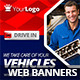 Multipurpose Car & Moto Web Banners - GraphicRiver Item for Sale