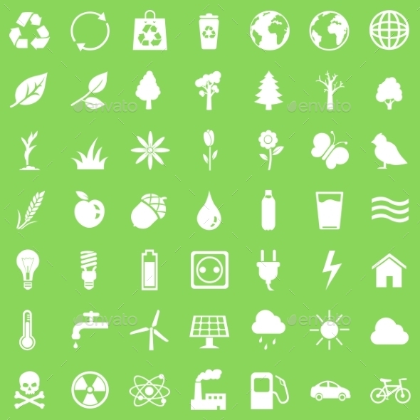 GraphicRiver Vector Set of Ecologic Icons 9657716