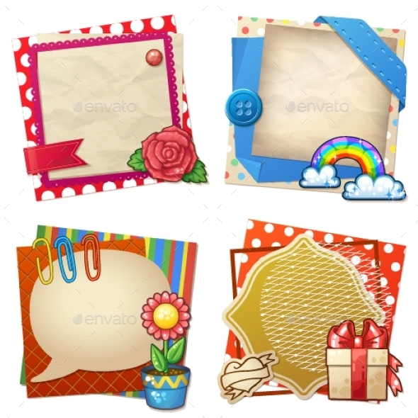 GraphicRiver Sets of Paper and Other Items for Scrapbooking 9657777