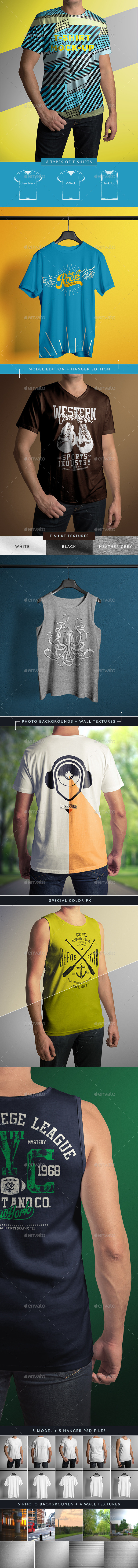 GraphicRiver T-Shirt Mock-Up Male Model Classic Edition 9657829