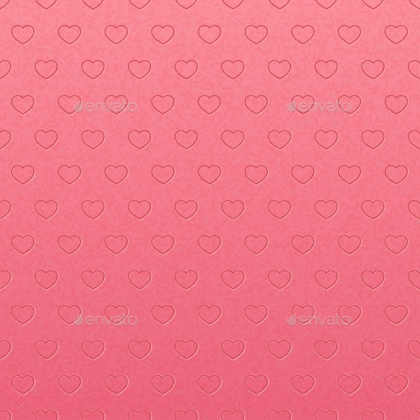 GraphicRiver Vintage Pink Pattern of Hearts 9657894
