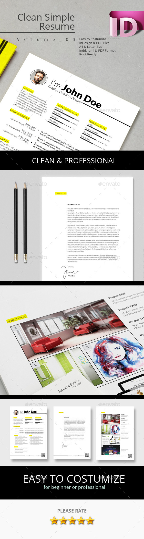 GraphicRiver Clean Simple Resume V.03 9657938