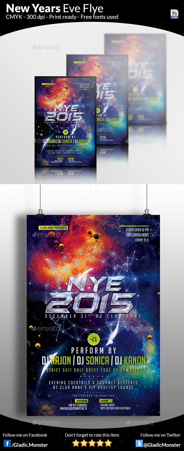 GraphicRiver New Years Eve Party Flyer 9658005