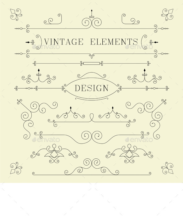 GraphicRiver Vintage Design Elements 9658159