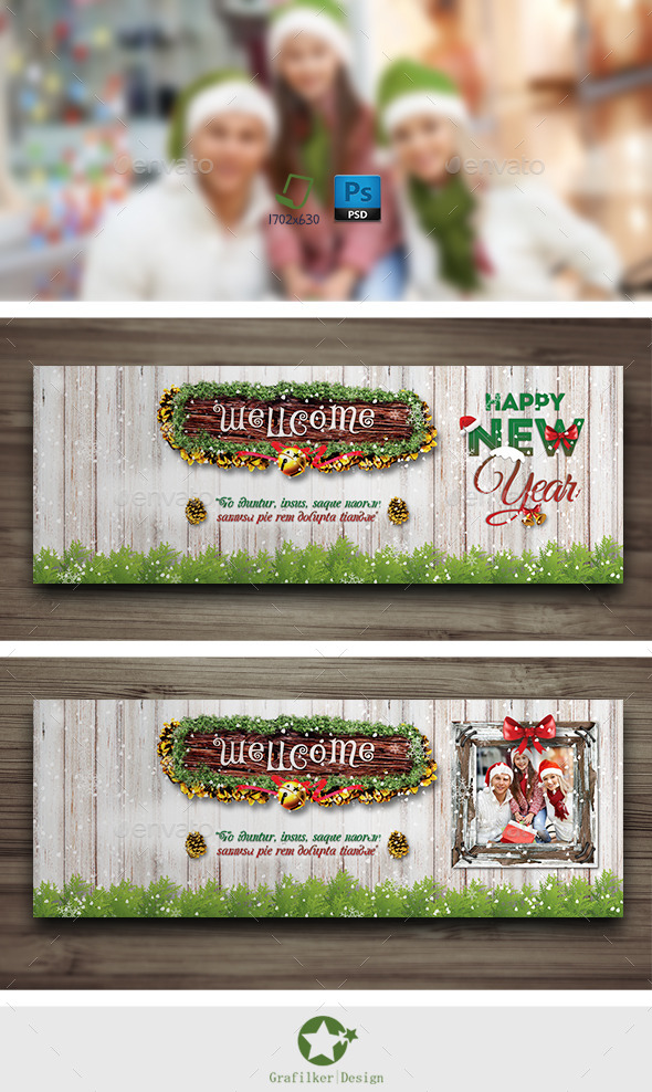 GraphicRiver Christmas Cover Timeline Templates 9658188